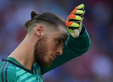David de Gea (file pic).