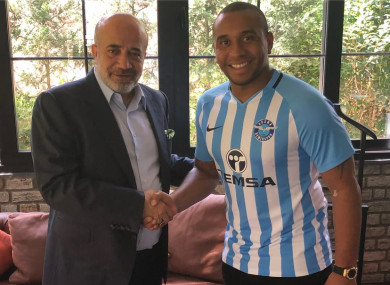 Anderson in the Adana Demirspor colours.