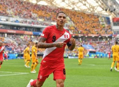 Guerrero celebrates scoring against Australia last month.