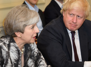 Theresa May may face a leadership challenge from Boris Johnson.