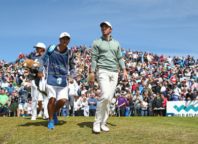 Large crowds followed McIlroy around the Glashedy Links on Thursday.