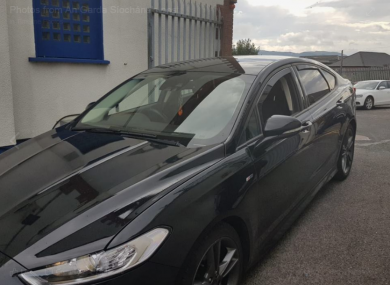 The black Ford Mondeo seized by CAB officers in Sligo