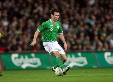 Former Republic of Ireland footballer Liam Miller