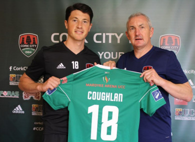 Coughlan and manager John Caulfield.