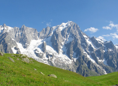 View of the Mont Blanc massif.