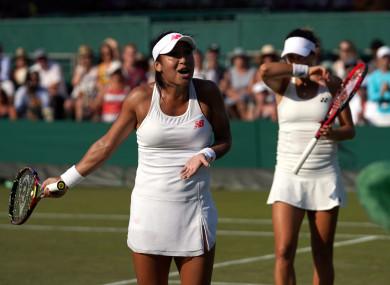 Watson and partner Tatjana Maria were beaten in the quarter-finals.