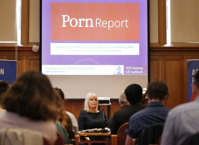 The Minister of State for Higher Education, Mary Mitchell O'Connor launchING a research report on sexual consent among third level students carried out by the NUIG