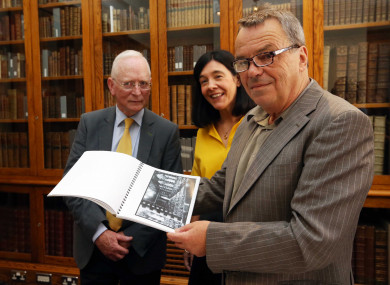 Neil Jordan with Director of the National Library of Ireland Dr. Sandra Collins and Chair of the National Library of Ireland Board Paul Shovlin.