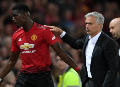 Mourinho made sure to congratulate Pogba for his season-opening performance on Friday night.
