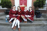 Liadan O'Hare, Lydia O'Neill, Isobel Byrne and Suzanne Masterson after doing their exams in Loreto College in Dublin.
