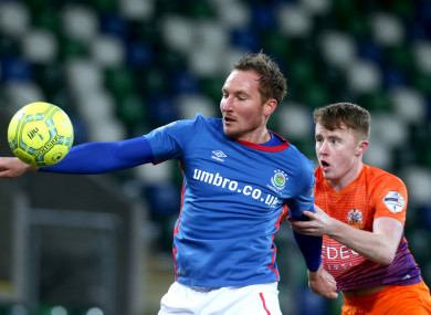Campion played with Linfield up until May.