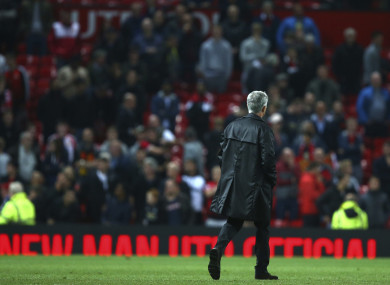 Yesterday's man: Jose Mourinho oversaw an historically bad result at home to Spurs last night.