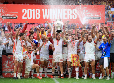 Catalans beat Warrington at Wembley.