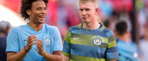 Wing men: Kevin de Bruyne and Leroy Sane.