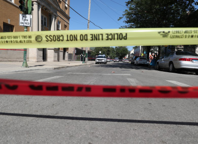File image of a shooting crime scene in Chicago in July.