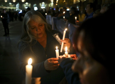 A vigil for the victims of church sexual abuse, held outside the Cathedral in Santiago, Chile (August 2018).