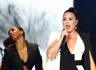 Demi Lovato performs at the Rock in Rio Lisboa 2018 festival in Lisbon in June.