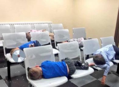 Children photographed sleeping in Tallaght Garda Station