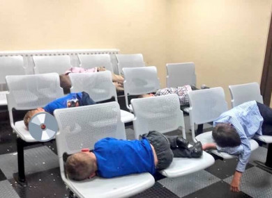 The children who slept in Tallaght Garda Station last night.