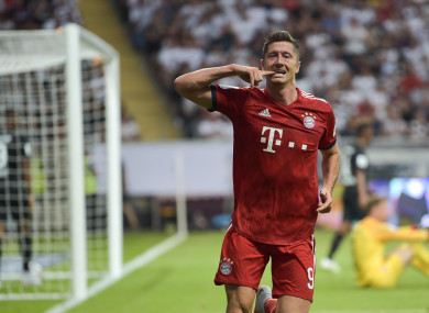 Lewandowski: hat-trick.