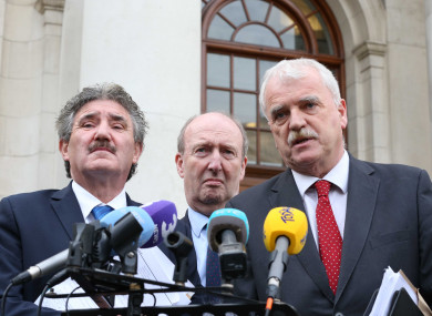 Members of the Independent Alliance - John Halligan, Shane Ross and Finian McGrath.