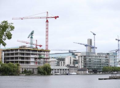 Cranes across Dublin's skyline