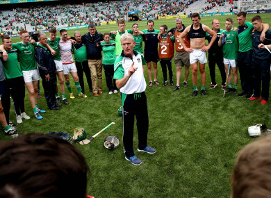 Limerick manager John Kiely with his team.