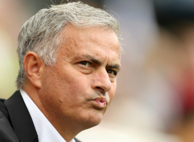Jose Mourinho was frustrated by United's lack of defensive signings.