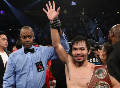 Boxing legend Manny Pacquiao