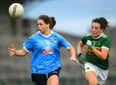 Noelle Healy scored two points for Dublin today.