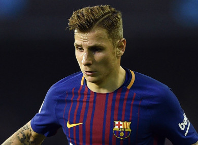 Digne spent two seasons at Camp Nou.