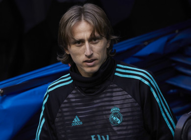 Real Madrid midfielder Luka Modric.