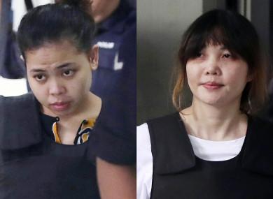 Siti Aisyah (left) and Doan Thi Huong (right)