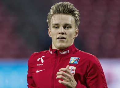 Norway international Martin Odegaard