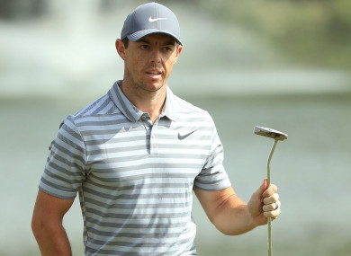 Rory McIlroy: 'I'm in a decent position coming into this week'.