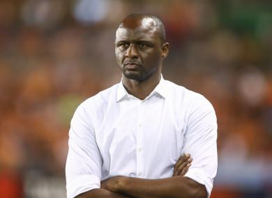 Nice manager Patrick Vieira (file pic).