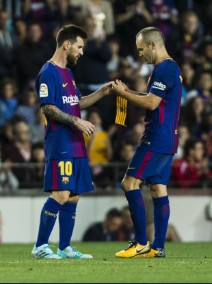 Messi takes over from Iniesta as skipper.