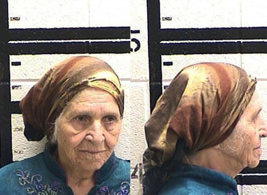 87-year-old Martha Al-Bishara after being arrested