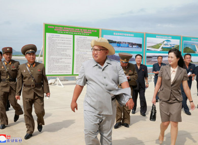 Image released this week of North Korean leader Kim Jong Un visiting a fish factory.