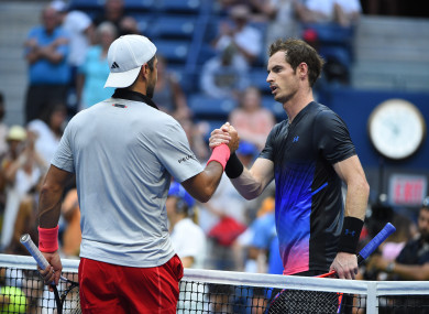 Fernando Verdasco and Andy Murray during their second match round at the 2018 US Open.