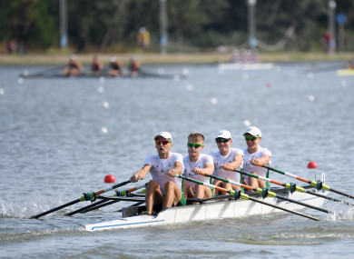 Andrew Goff, Jacob McCarthy, Ryan Ballantine and Fintan McCarthy finished fifth in their A Final on Friday morning.