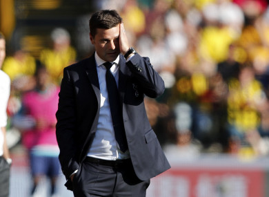 Tottenham surrendered their 100% start to the season at Vicarage Road.