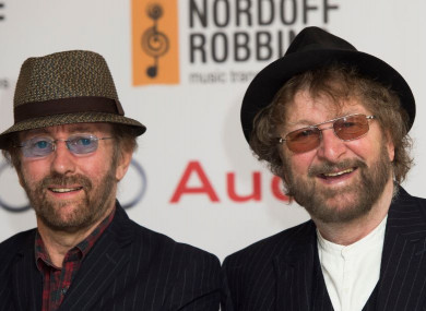 Dave Peacock (left) and Chas Hodges of Chas and Dave pictured in London in 2014.