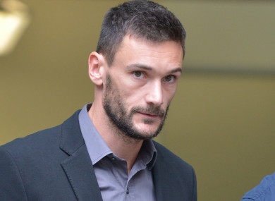 Lloris was in court during the week.