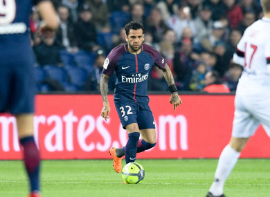 Alves and PSG visit Anfield next week.