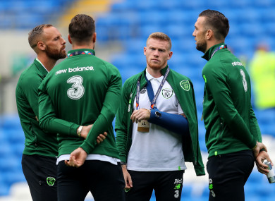 James McClean ahead of the recent Wales game.