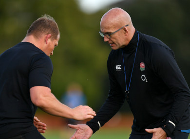 John Mitchell puts Dylan Hartley through his paces.