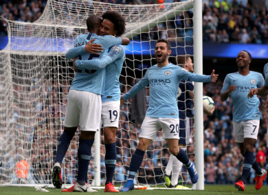 Sane got City up and running with an early goal.