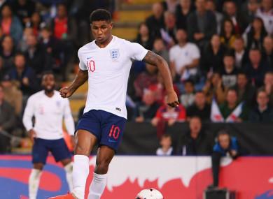 England forward Marcus Rashford