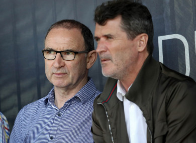 Ireland Senior Manager Martin O'Neill and Assistant Manager Roy Keane pictured in May.